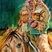 Wyoming Cowgirl Poster