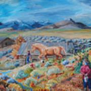 Wyoming Ranch Scene Poster
