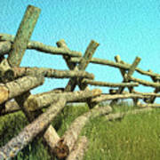 Wyoming Snow Fence Poster