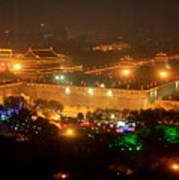 Xian City Lights Poster