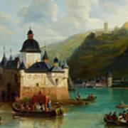 Xixth Century French School Pfalzgrafenstein Castle Poster