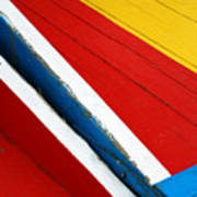 Xochimilco Boat Abstract 1 Poster