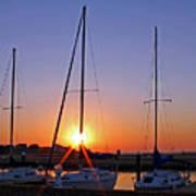 Yacht Club Sunrise Poster