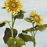 Yana's Sunflowers Poster