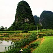 Yangshuo's Limestone Karsts Poster