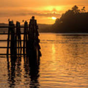 Yaquina Bay Sunset - Vertical Poster