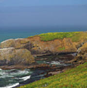 Yaquina Head Lighthouse And Bay Poster