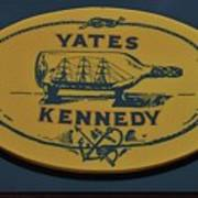 Yates Kennedy Sign Provincetown Poster
