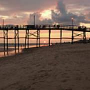 Yaupon Pier Sunset Poster