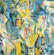 Yellow Abstraction Poster