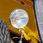Yellow And Blue Hot Rod Headlight Poster