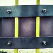 Yellow Bars Close Up  Poster