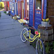 Yellow Bicycle Silverton Colorado Poster