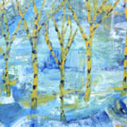 Yellow Birches Poster