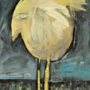 Yellow Bird In Field Poster