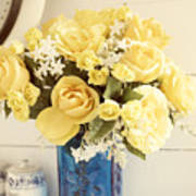 Yellow Bouquet Of Flowers Poster