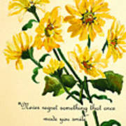 Yellow Daisies .. Poem Poster