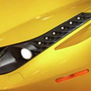 Yellow Ferrari 2013 Poster