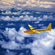 Yellow Glider Poster