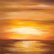Yellow Gold Sunset Poster