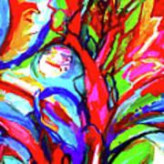 Yellow Iris Abstract Poster