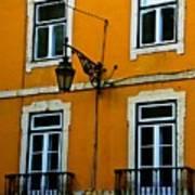 Yellow Italian Building Poster
