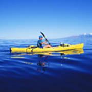 Yellow Kayak Poster