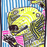 Yellow Lab Poster by Robert Wolverton Jr