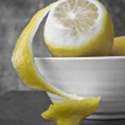 Yellow Lemons Poster