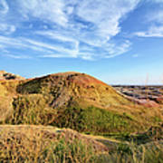 Yellow Mounds Poster