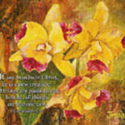 Yellow Orchids Acrylic 2 Cor 5 Poster