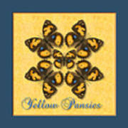 Yellow Pansy Butterfly Wheel Poster