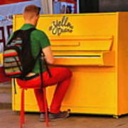 Yellow Piano Poster
