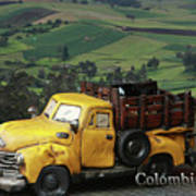 Yellow Pick-up Truck Poster