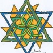 Yellow Pinnwheel Poster