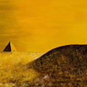 Yellow Pyramid Poster