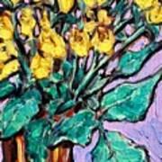Yellow Roses Poster by Sheila Tajima