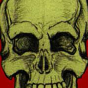 Yellow Skull Poster