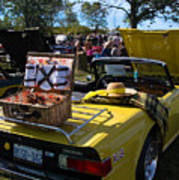 Yellow Tr6 Poster
