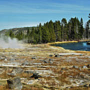 Yellowstone Hot Springs Poster