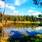 Yellowstone Lake In Summer Poster