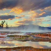 Yellowstone National Park-mammoth Hot Springs Poster by Kevin McNeal