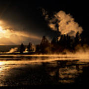 Yellowstone River Sunrise Poster