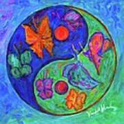 Ying Yang Butterfly Poster