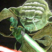 Yoda Fights Poster