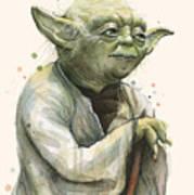 Yoda Portrait Poster