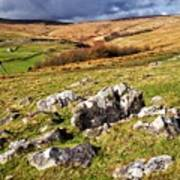 Yorkshire Dales Limestone Countryside Poster