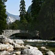 Yosemite Bridge Water Color Photograph Poster