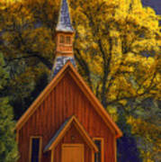 Yosemite Chapel Poster