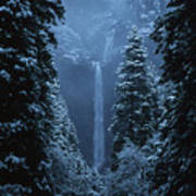 Yosemite Falls In January Poster